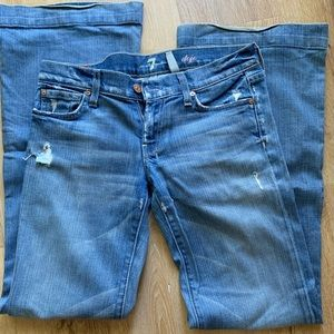 Wide leg designer jean